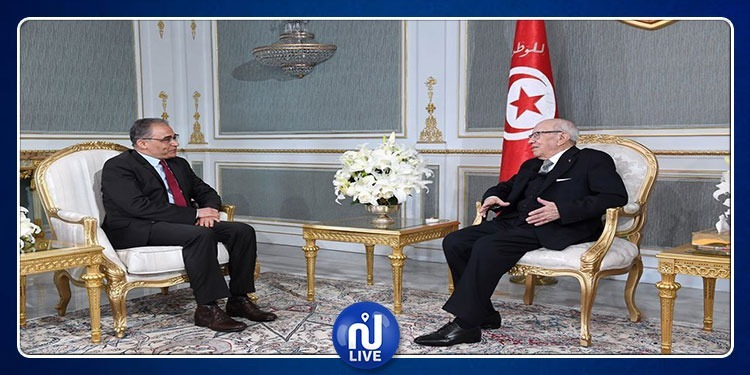 رئيس الجمهورية يتحادث مع رئيس حركة مشروع تونس