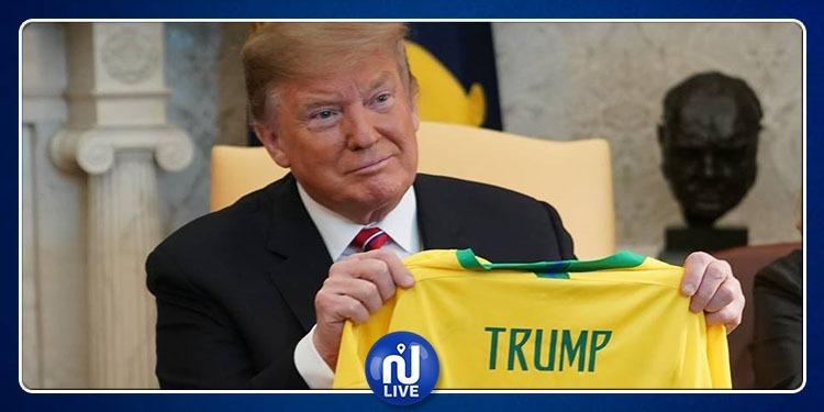 رئيس البرازيل يهدي ترامب قميص منتخب بلاده (صور)