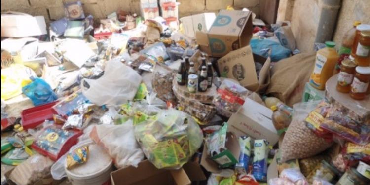 قصيبة المديوني: حجز مواد غذائية غير صالحة للاستهلاك بمخزن عشوائي