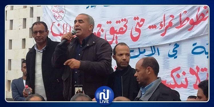 اليعقوبي يدعو الأساتذة النواب للإلتحاق بالإعتصام في وزارة التربية