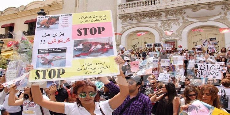 وقفة احتجاجية للمطالبة بايقاف قتل الحيوانات السائبة (صور)