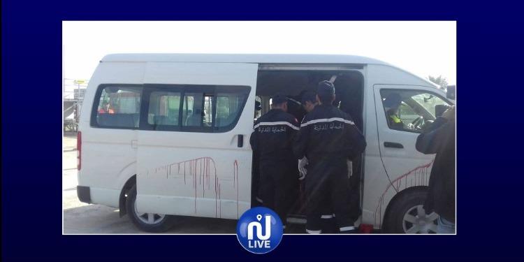 عملية بيضاء للحماية المدنية تحاكي إصطدام حافلة مسافرين بشاحنة