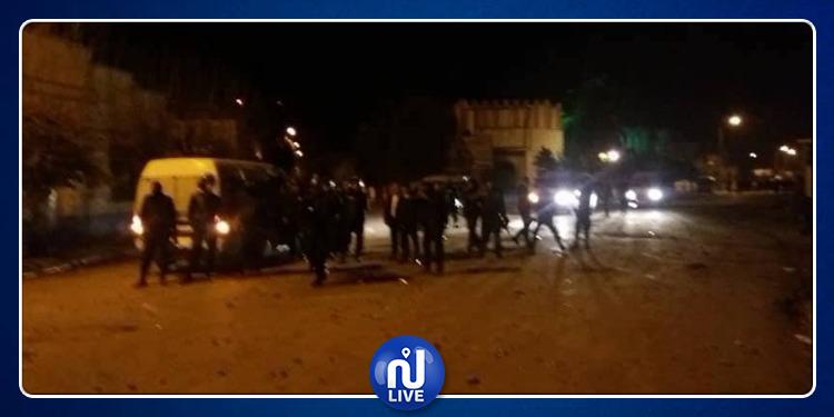سيدي بوزيد: مواجهات بين محتجين وقوات الحرس الوطني