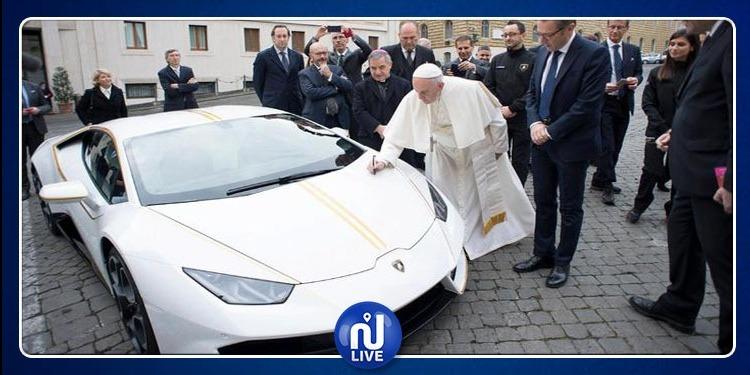 مسابقة للفوز بسيارة ''لامبورغيني'' مُباركة من البابا ! (فيديو)