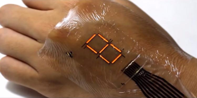 جلد إلكتروني لتعويض الساعات الذكية