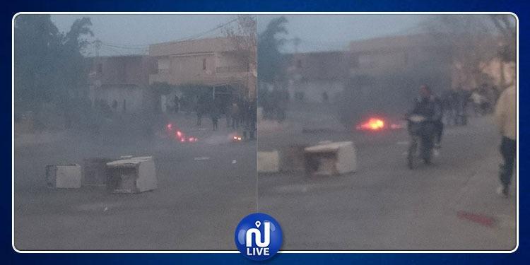 فريانة: تجدد الاحتجاجات وحرق العجلات المطاطية وسط المدينة