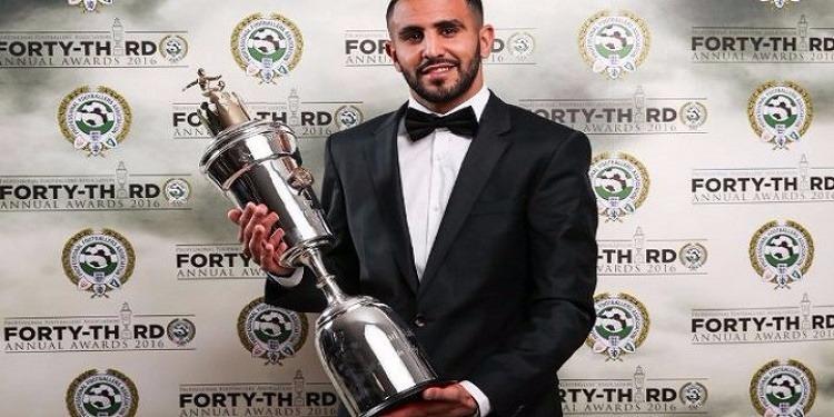 الجزائري رياض محرز أفضل لاعب في الدوري الأنجليزي