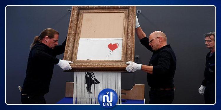 L'œuvre autodétruite de Banksy exposée en Allemagne…