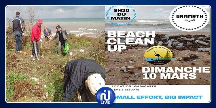 قمرت: المجتمع المدني يشرع في تنظيف الشاطئ ! (صور)