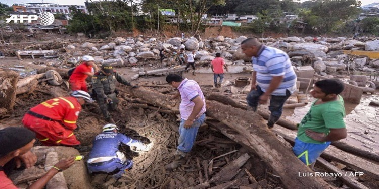 انزلاق التربة في كولومبيا : 250 قتيل ومئات المفقودين