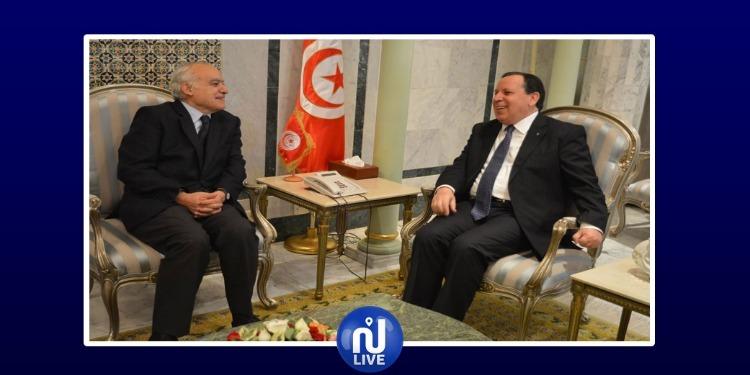 على هامش مؤتمر باليرمو: الجهيناوي وسلامة يبحثان المستجدات الليبية