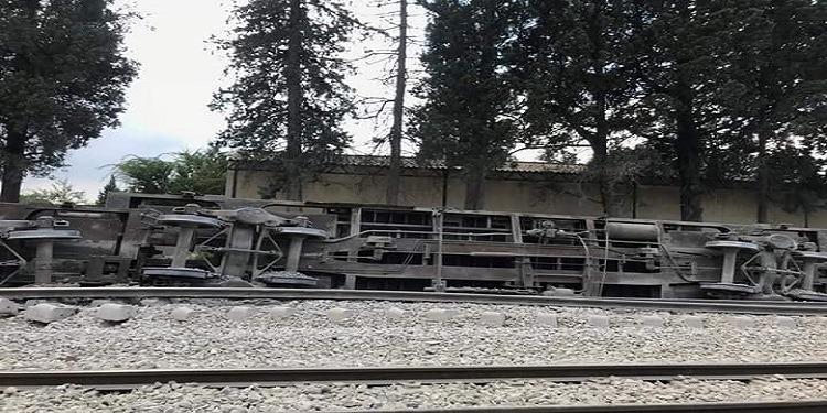 Grombalia: Déraillement d'un train de marchandises (Photo)