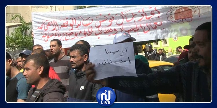 القصرين: عمّال الحضائر يحتجّون ويهدّدون بالتصعيد (صور)