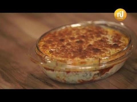 كوجينة رمضان مع ملاك : gratin d'aubergine à l'épinard ، soupe de creme chamia aux dattes